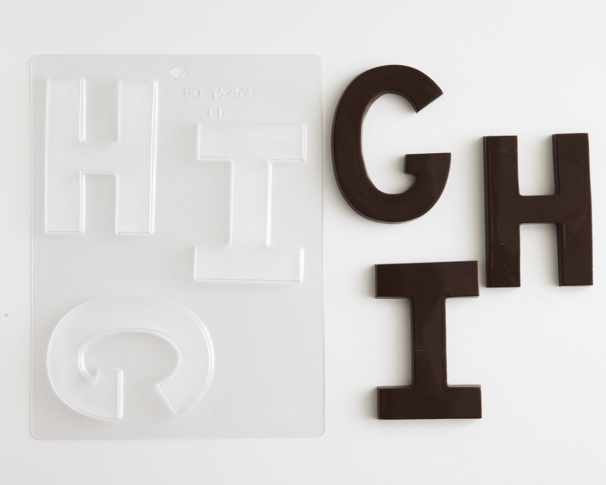 Large Block Letters Chocolate Candy Molds - A - Z (8) 4'' Letter Alphabet Set (Cakegirls Chocolate Mold Instructions Included) by Cakegirls (Image #3)