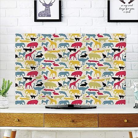 Funda para televisor LCD, diseño de animales de dibujos animados ...