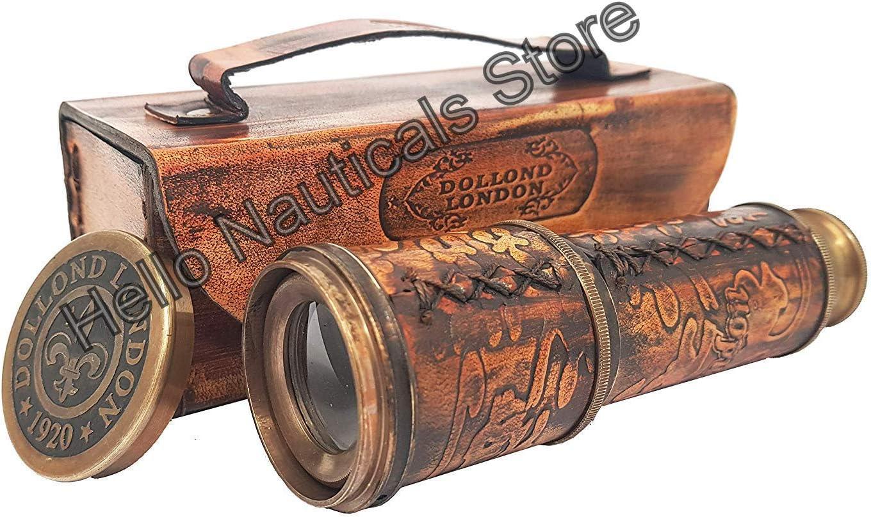 Antique Maritime Brass Dolland London Telescope Nautical Vintage Spyglass Scope
