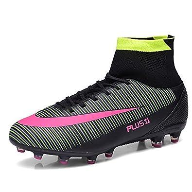BOLOG para Adultos Adolescentes Hombre FG Botas de fútbol Spike Zapatos de fútbol  Botas de fútbol de Gran Parte Superior  Amazon.es  Zapatos y complementos 2171097b9df80