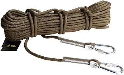 20M 12KN Climbing Rappelling Rope Accessory Cord Webbing Sling 9.5mm Carabiners