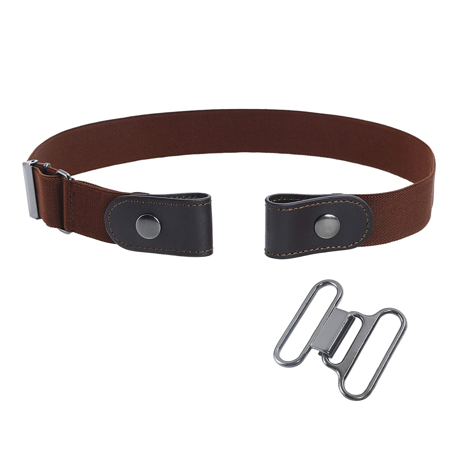 Buckle Free Elastic Women Belt - Comfortable Invisible Belt Without Buckle (Brown) TXX43JD03