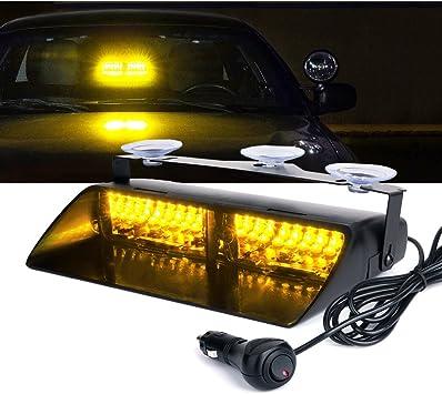 9 LED Emergency Hazard Warning Windshield Dash Board Strobe Light Amber Yellow