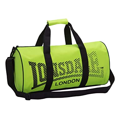 Lonsdale Unisex Barrel Bag Charcoal Lime One Size  Amazon.co.uk  Clothing f315572c0b095