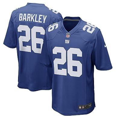13ef619f5 Saquon Barkley New York Giants Nike 2018 Draft Pick Royal Blue Game Jersey  - Men s Large