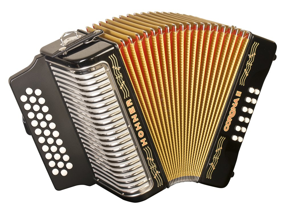Hohner Corona II F/Bb/Eb Diatonic Accordion - Black