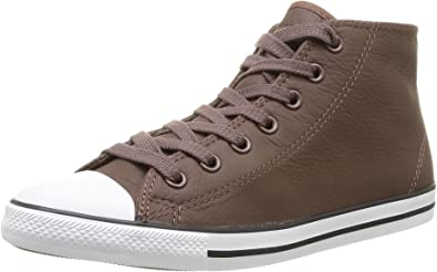 Converse As Dainty Femme Leather Mid, Baskets Hautes