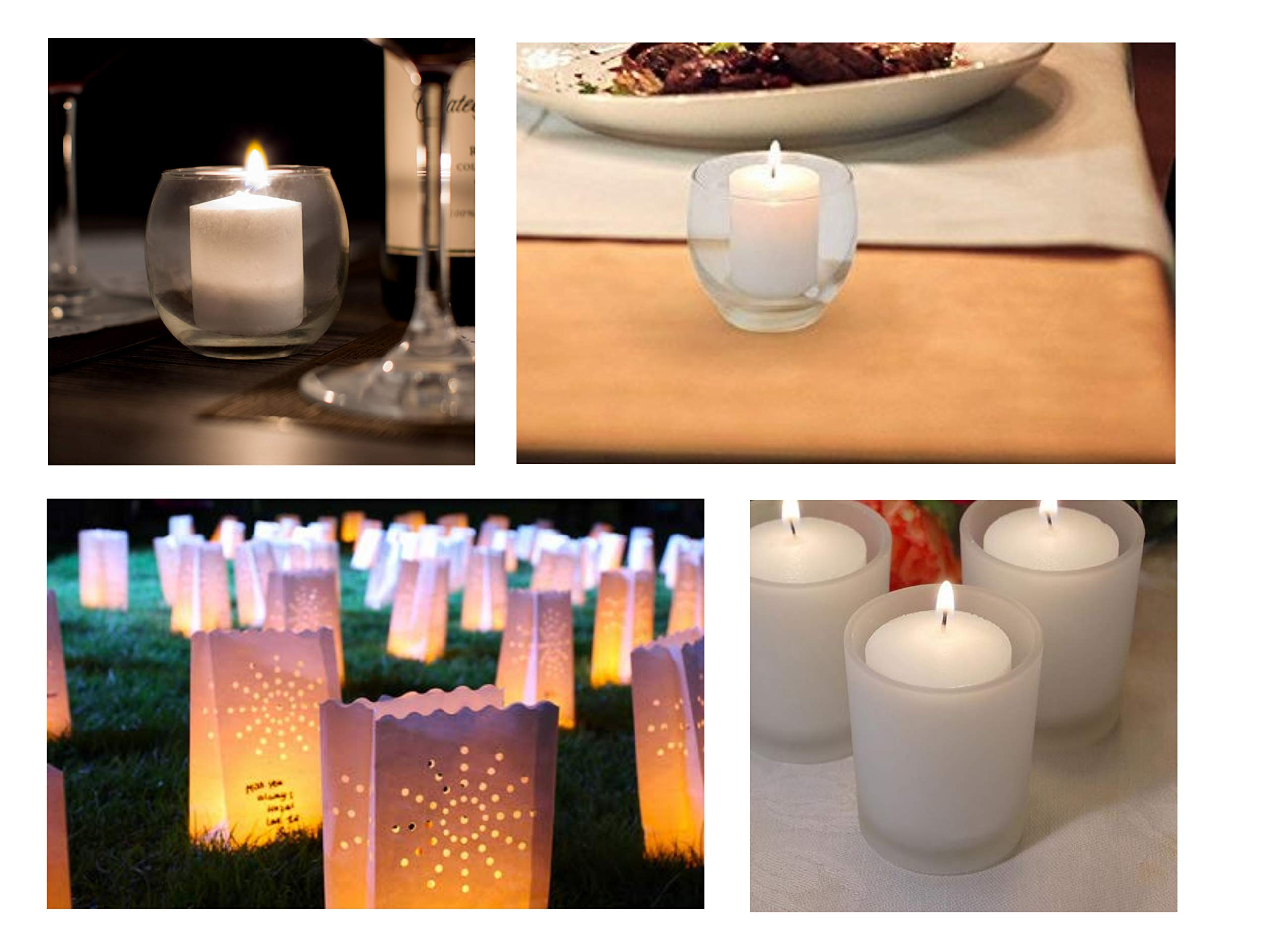 D'light Online 15 Hour Unscented White Emergency and Events Bulk Votive Candles (White, Set of 144) by D'light Online (Image #5)