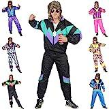 Foxxeo Premium 80er Jahre Kostüm für Erwachsene Trainingsanzug Assianzug Assi Gr. S - XXXL Größe S