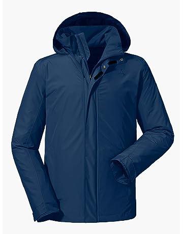 d339f3e4e9 Schöffel Jacket Aalborg2 Herren Jacke, wasser- und winddichte Outdoorjacke  mit verstaubarer Kapuze, atmungsaktive