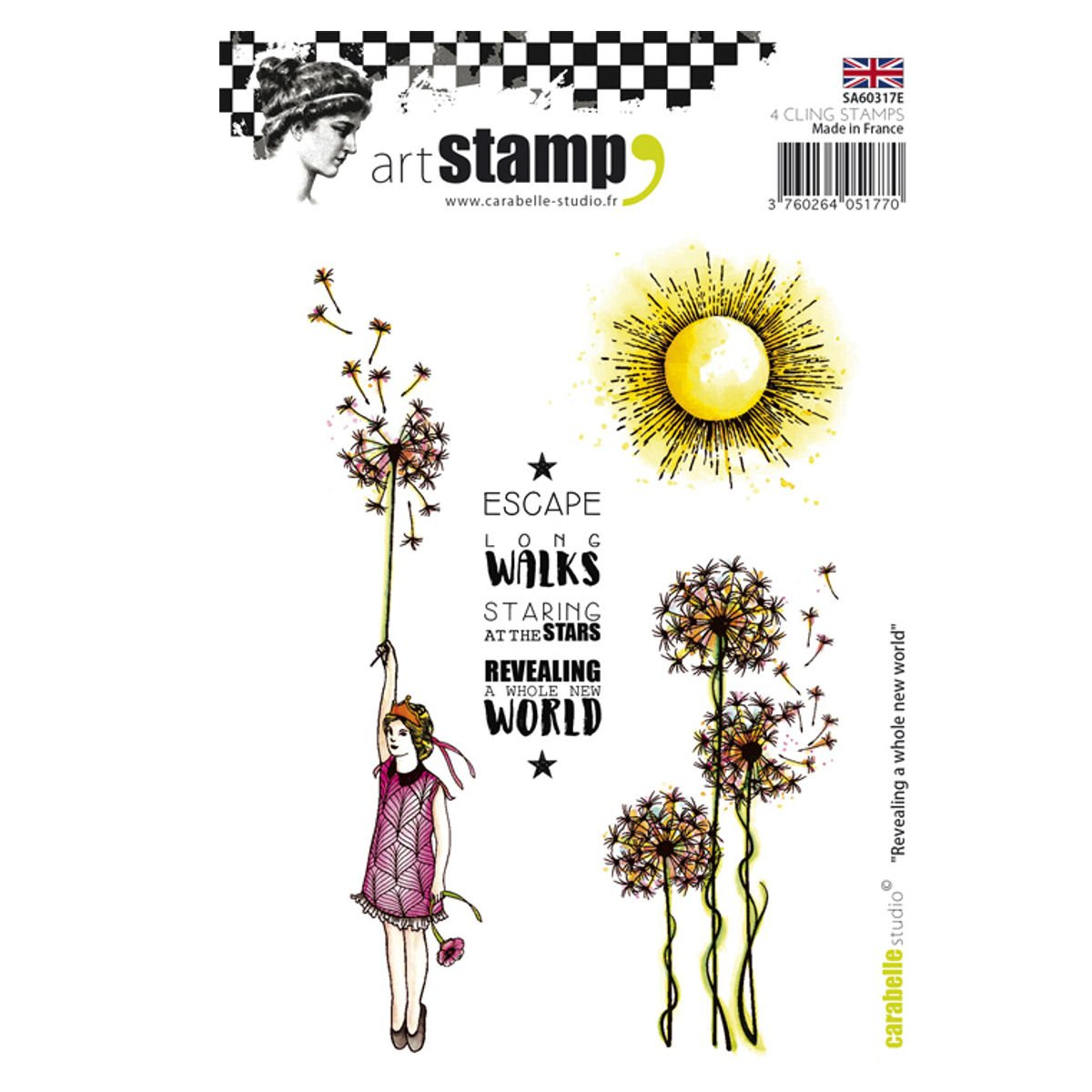 Carabelle Studio Revealing A Whole New World Cling Stamp A6