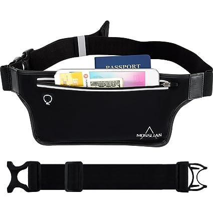 Running Belt, MOSSLIAN Outdoor Fitness Workout Waist Fanny Hip Pack Bum Bag for iPhone 7 6S 6 Plus, Galaxy J7 Edge J5 S7 S5 Up to 6