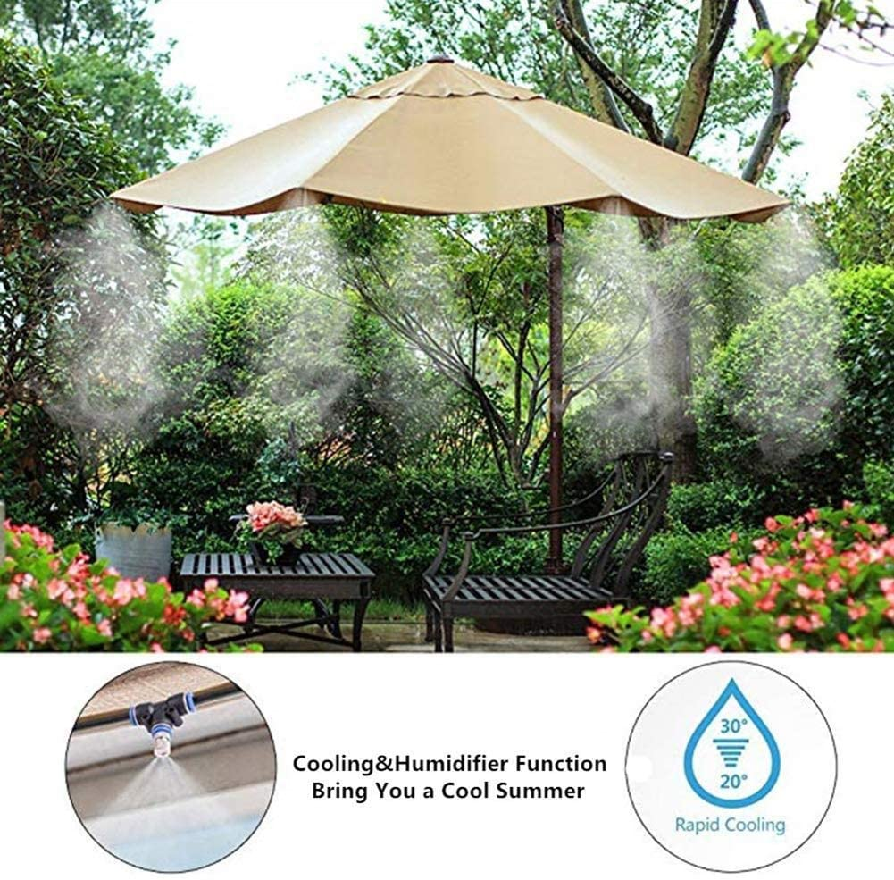Stoge Verano Kit Nebulizadores for Terrazas,Sistema de Nebulizacion for Exteriores jardín Pergola, DIY automático riego for Invernaderos, Jardines, Terrazas y Césped(8M): Amazon.es: Hogar