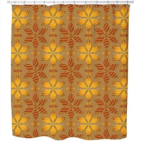 Amazon.com: Uneekee Calyx Petal Shower Curtain: Large Waterproof ...