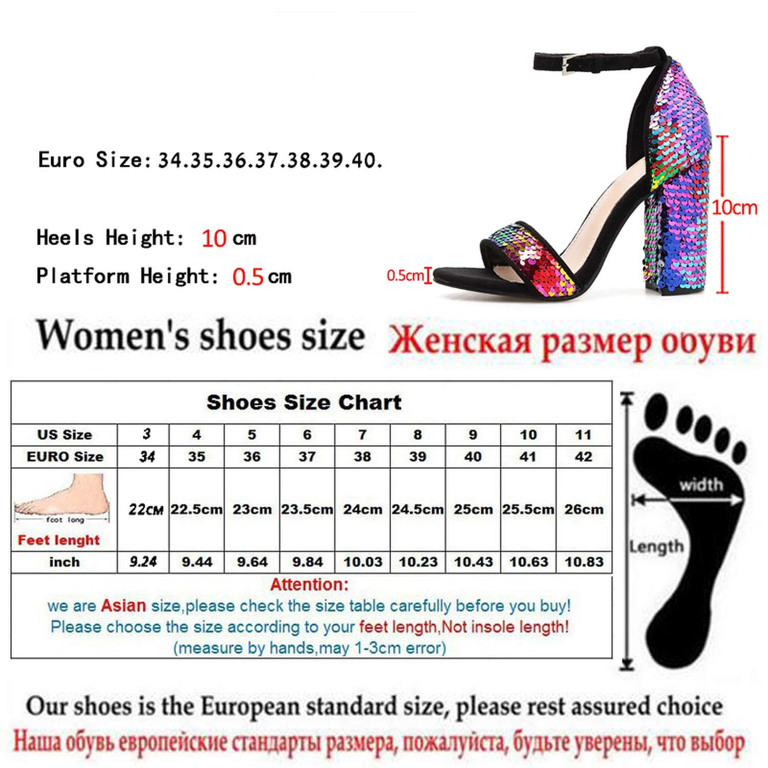 Witch-House Fashion Bling Sandals Buckle Cover Heel Shoes Sweet Square Heel Colorful Gladiator Sandals,Color,8