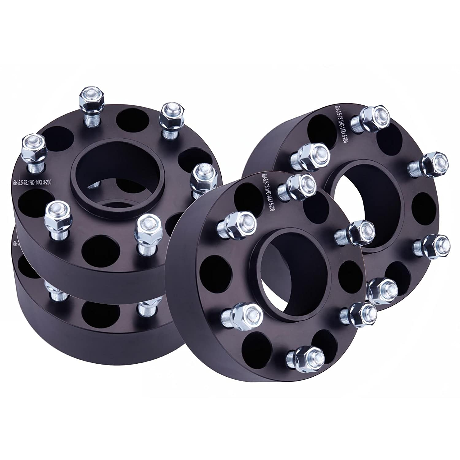 Amazon WHEELTECH 4 Pcs 6x5 5 Black fit Chevy Silverado 1500 Hub