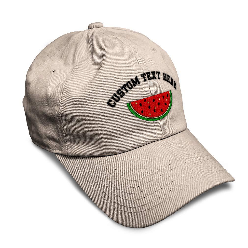 Custom Soft Baseball Cap Watermelon Style C Embroidery Dad Hats for Men /& Women