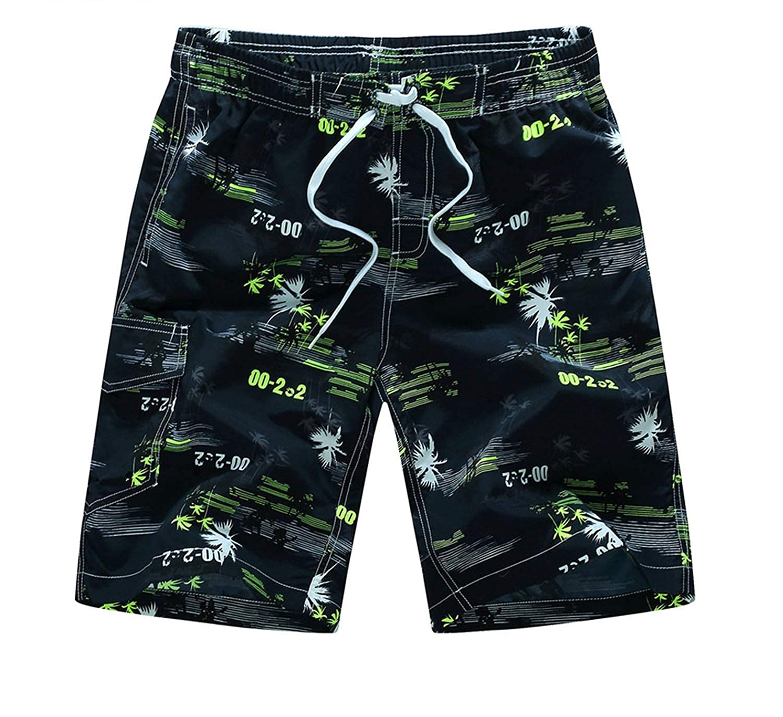 I Need-You Beach Shorts Mens Brand Surf Sport Boardshorts Swimwear Summer Sport Shorts Quick Dry Bermuda Plus Size,Black Blue,XL