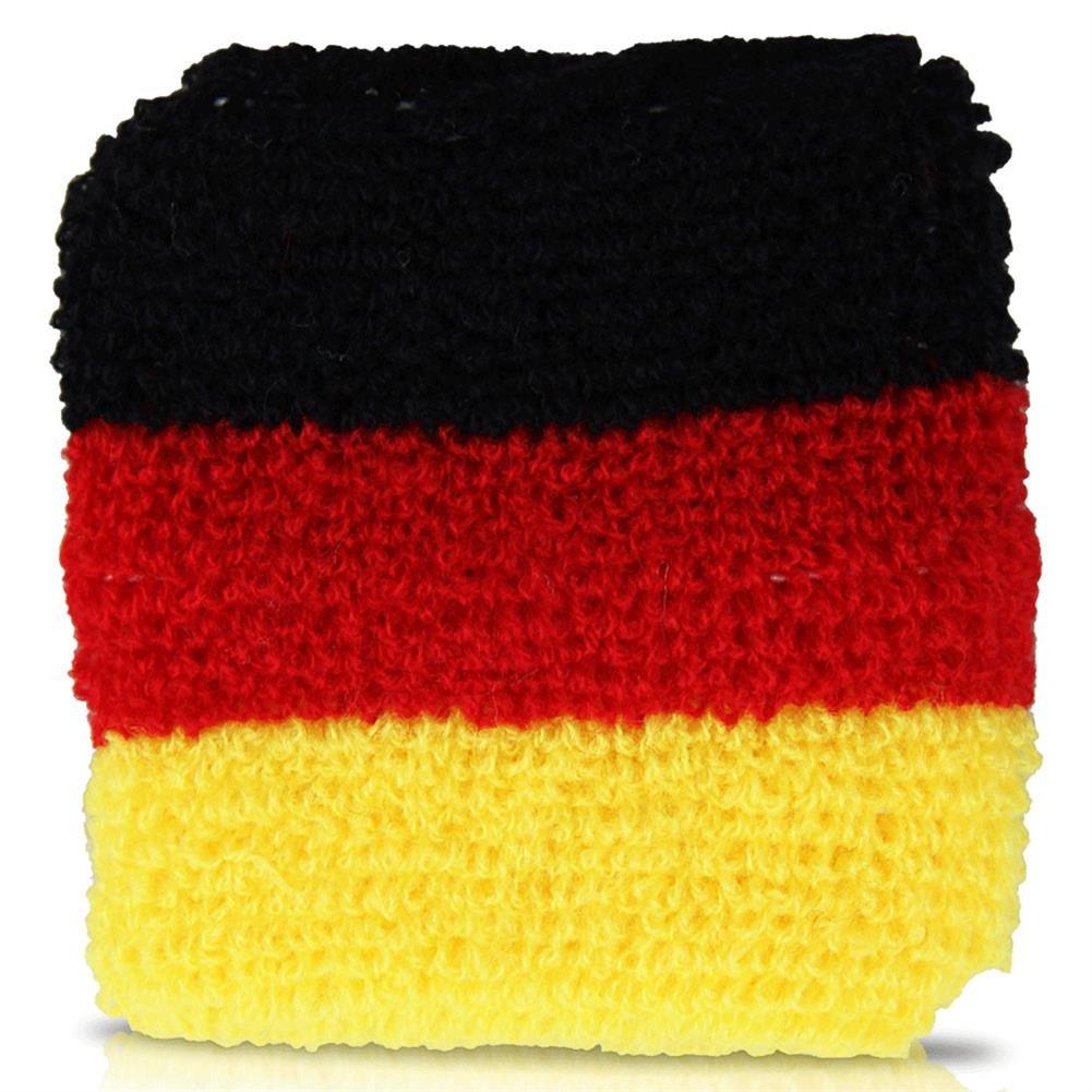 colores de la bandera alemana Unbekannt Juego de 2 mu/ñequeras