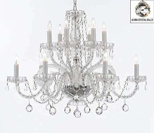 Murano Venetian Style All Empress Crystal Tm Chandelier with Crystal Balls