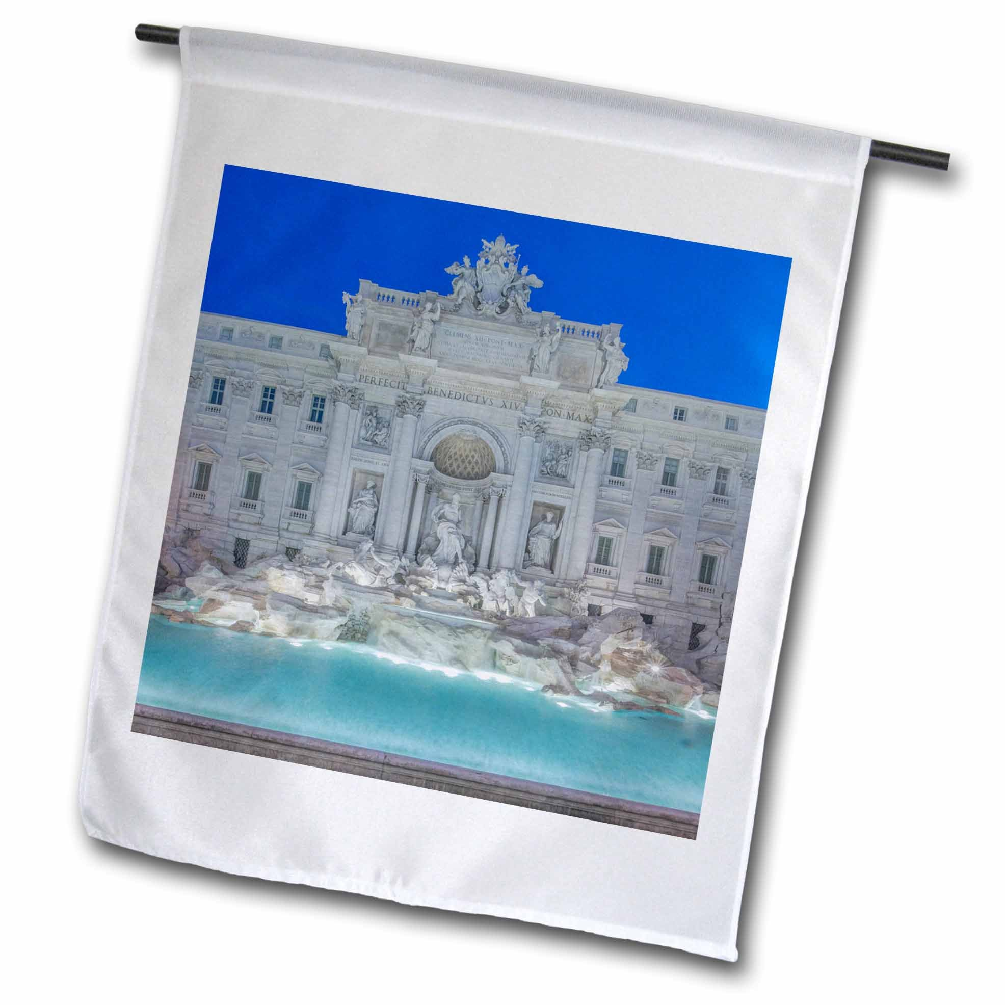 3dRose Danita Delimont - Fountains - Europe, Italy, Rome, Trevi Fountain at dawn - 18 x 27 inch Garden Flag (fl_277641_2)