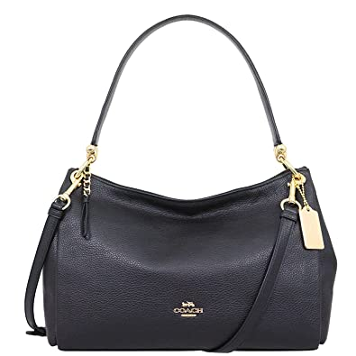 fedcef79f0bf Coach F28966 MIA Shoulder Bag in Refined Pebble Leather  Handbags   Amazon.com