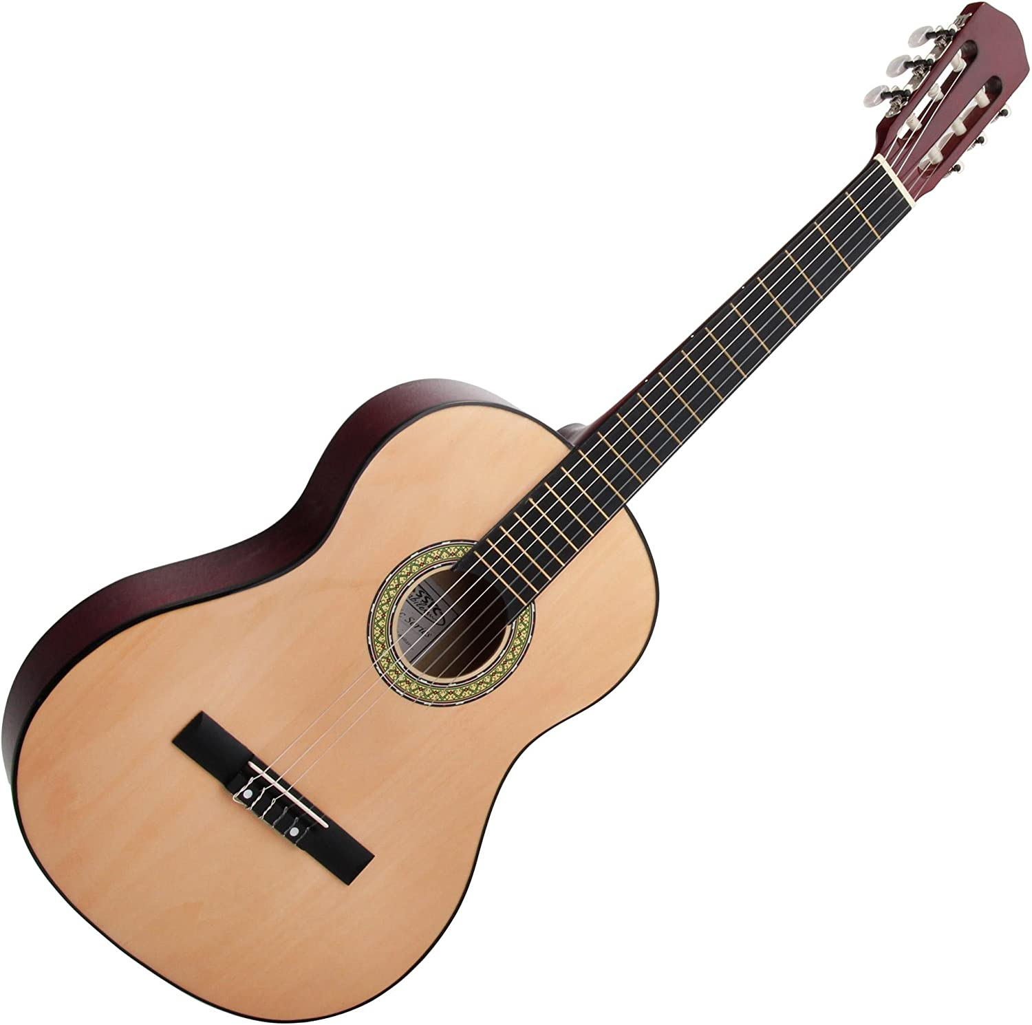 Classic Cantabile AS-651 Guitarra clásica tamaño 4/4 PACK: Amazon ...