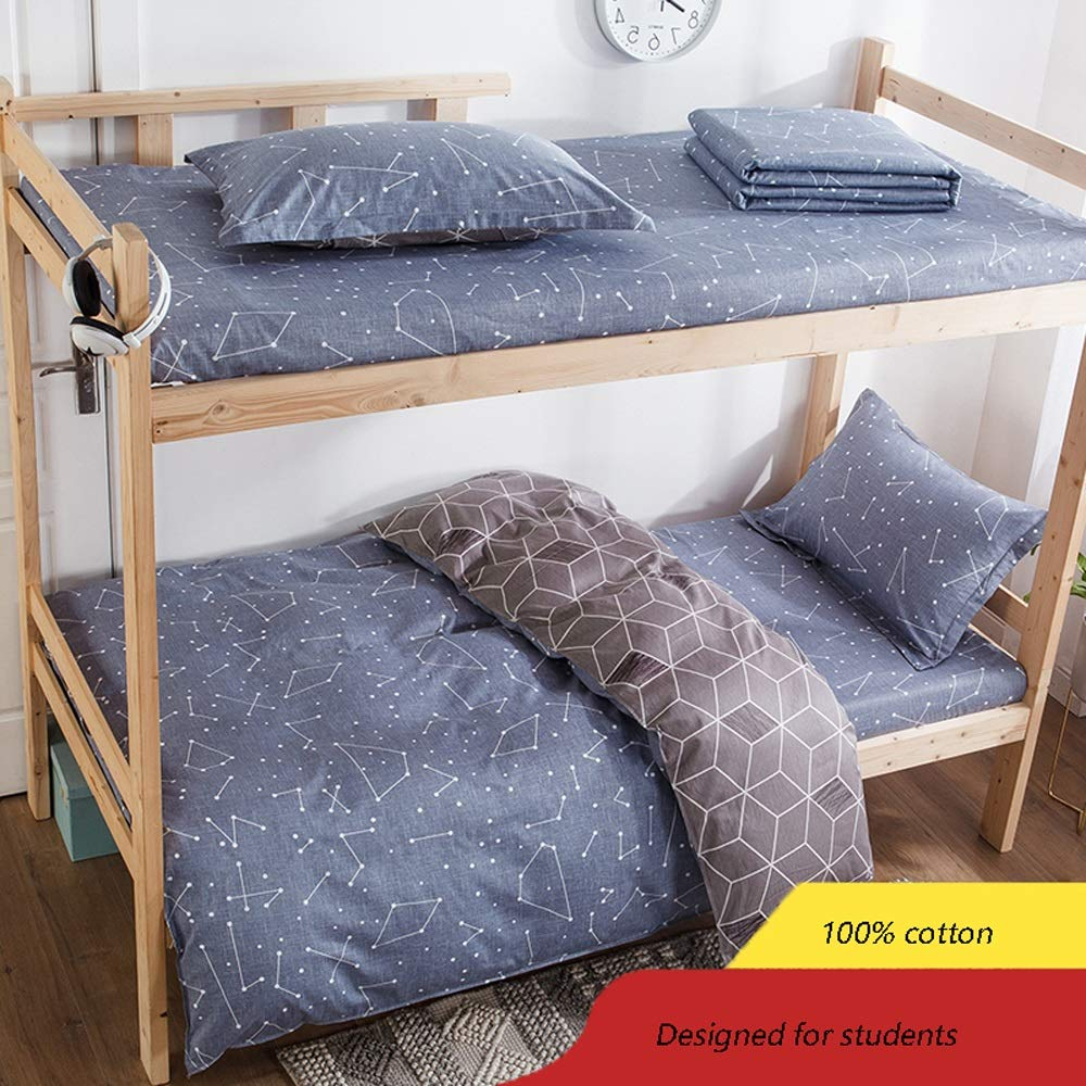 ARESS-Fitted sheets Bedding Three-Piece Set - Student Dormitory Single Bedroom Simple Solid Color Bedding Set - Bedding (Color: Multi-Color Can Choose) (Color : D, Size : 0.9m)