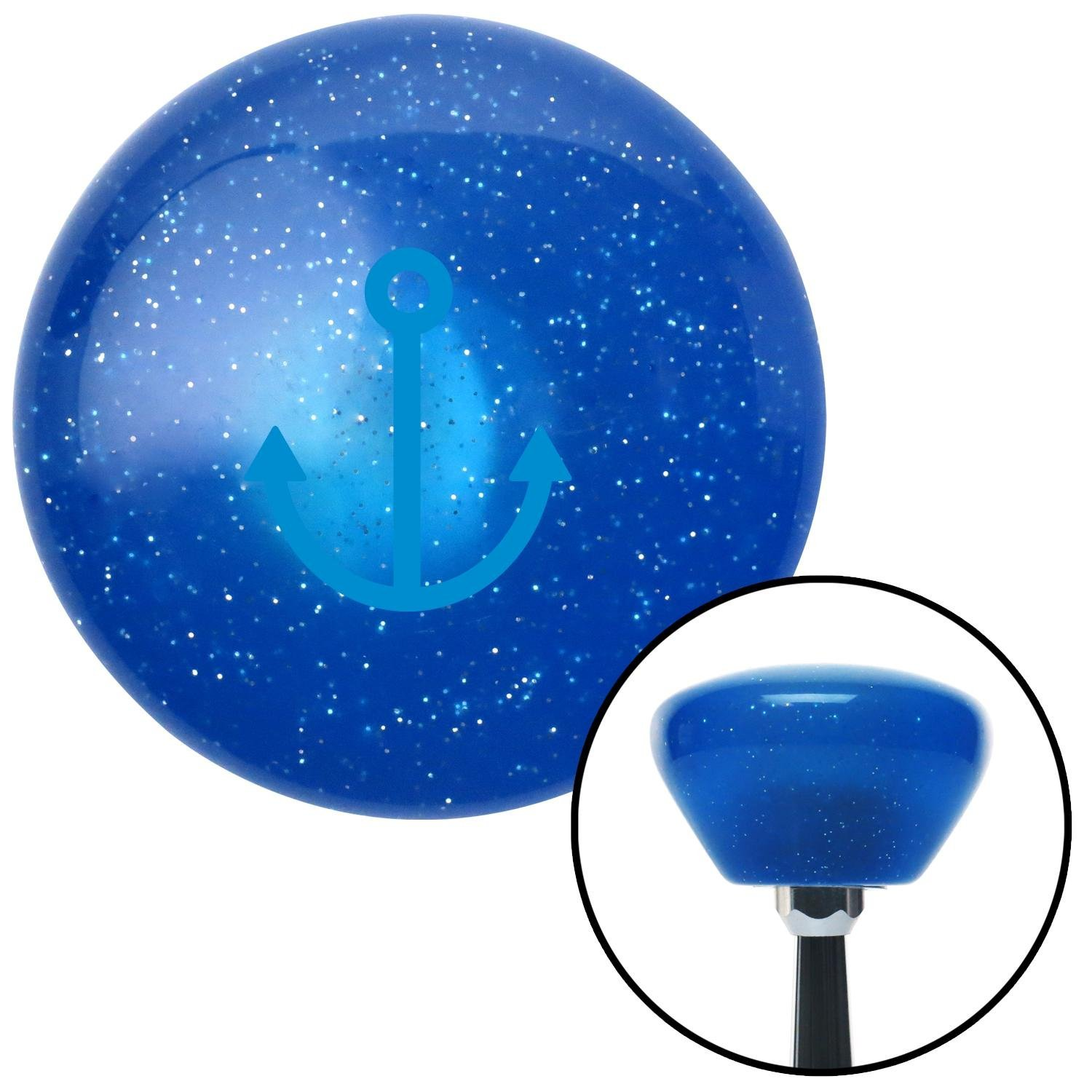 American Shifter 198361 Red Retro Metal Flake Shift Knob with M16 x 1.5 Insert Blue Marine in Canoe