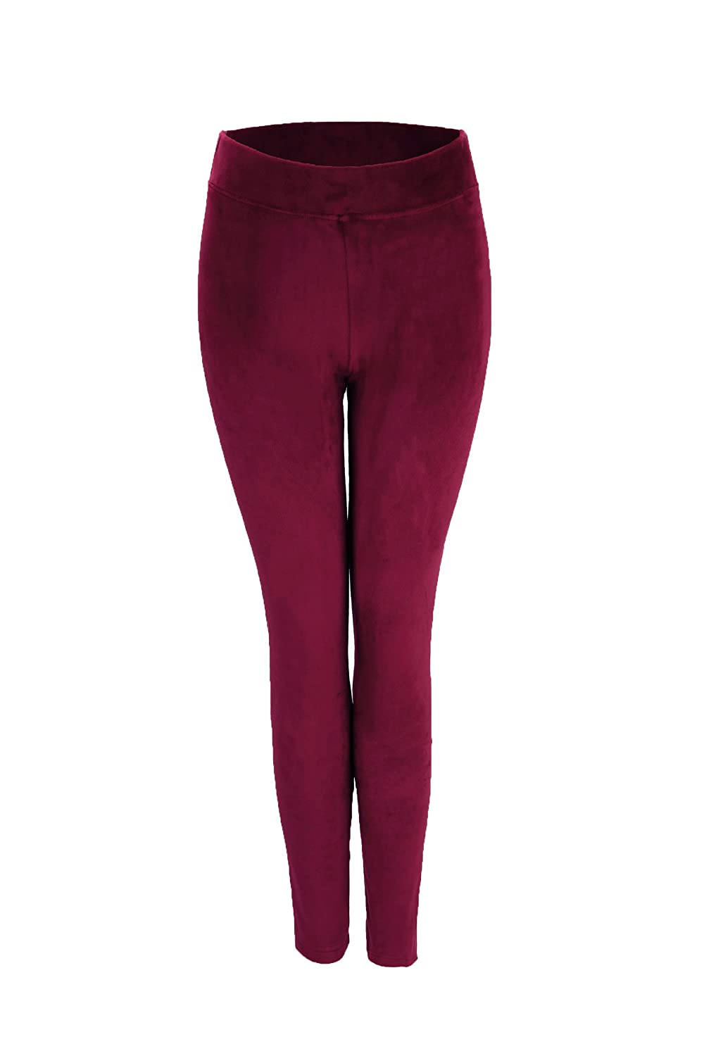 YoungMi Women's Ultra Soft Velvet Stretch Winter Leggings Fashion Pant with Elastic Waistband