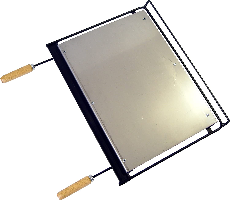 Imex El Zorro 71665 - Plancha barbacoa inox, 58 x 40 cm, color negro