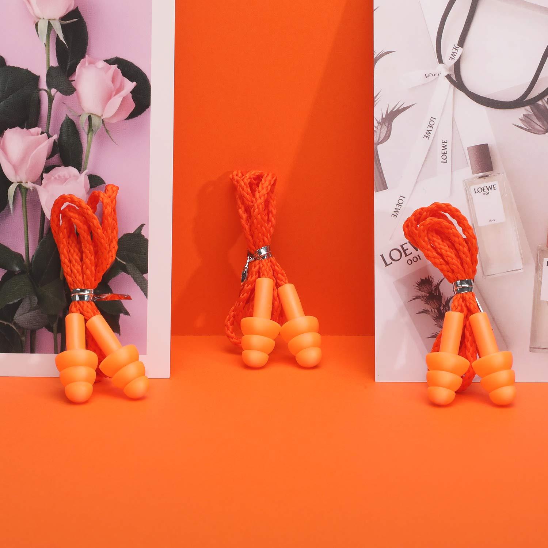 Multicolore Lot de 20 Paires de Bouchons doreille en Silicone r/éutilisables pour la Protection auditive