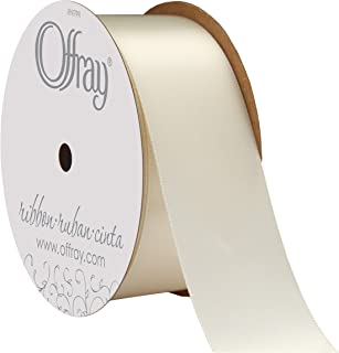 "product image for Offray Berwick 1.5"" Wide Double Face Satin Ribbon, Antique White Ivory, 10 Yds"