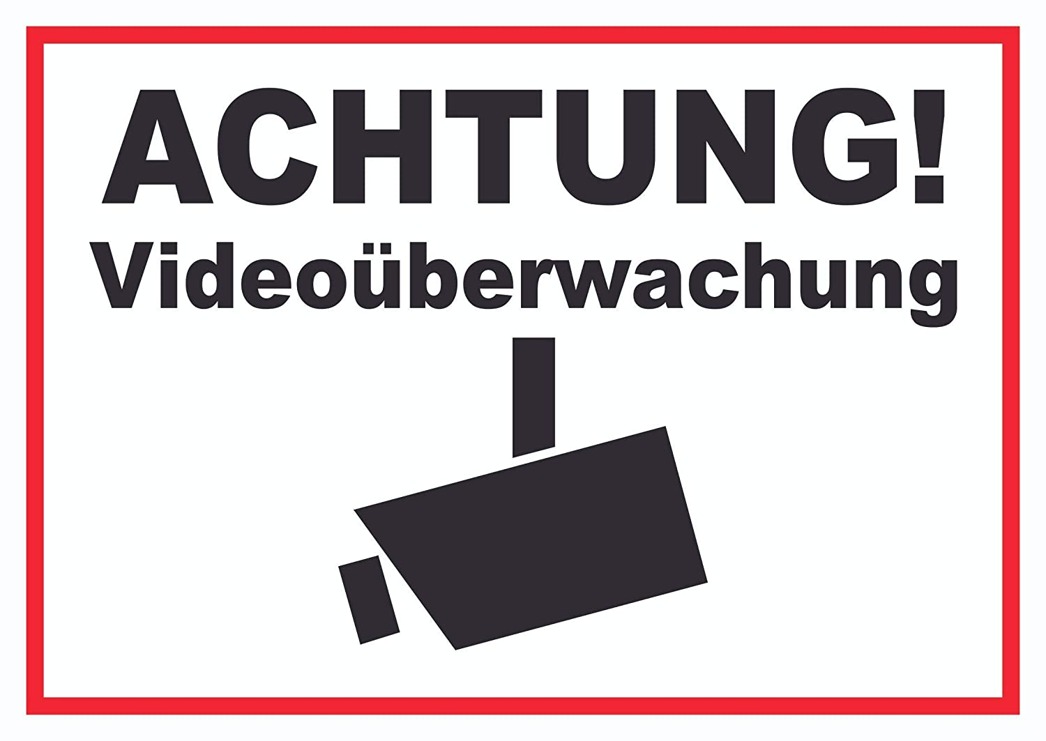 Advertencia Videovigilancia Cartel, A3 Rückseite ...