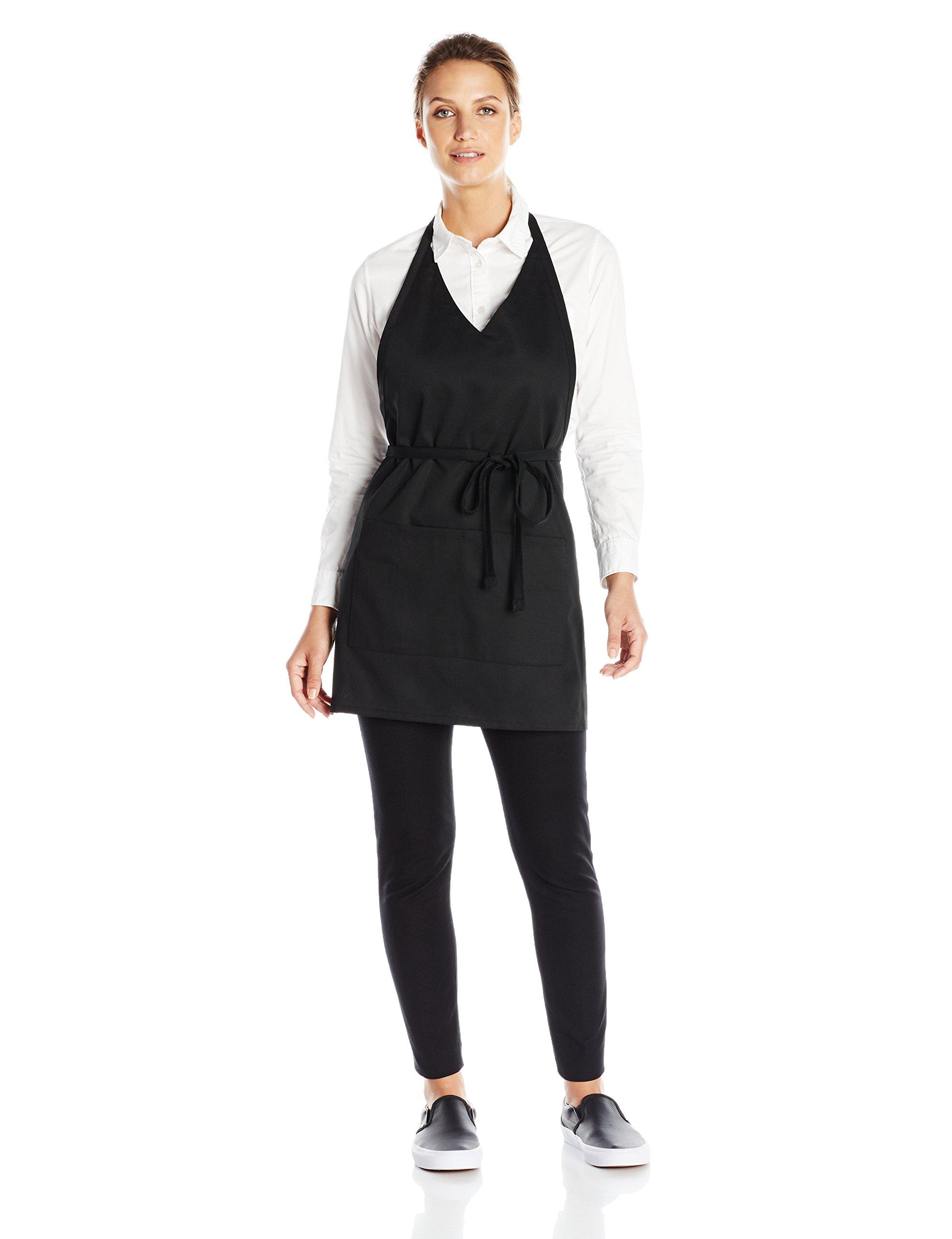 Uncommon Threads Unisex V-Neck Formal Apron, Black, One Size