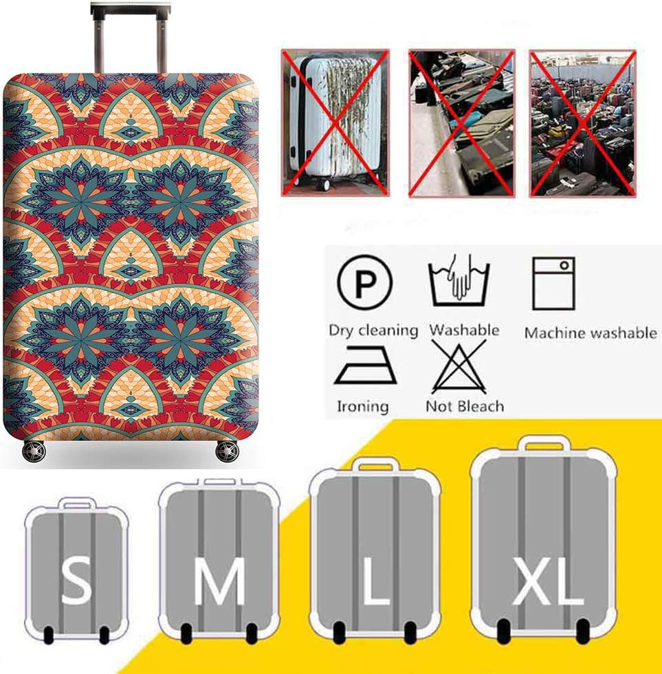 HBWZ Personalized Printing and Dyeing Suitcase Cover Protectors 18-32 Inch Luggage Cover for Wheeled Suitcase Protective Case,C,S