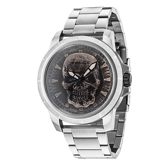 Police Reloj Análogo clásico para Hombre de Cuarzo con Correa en Acero Inoxidable 14385JS/57M: Amazon.es: Relojes