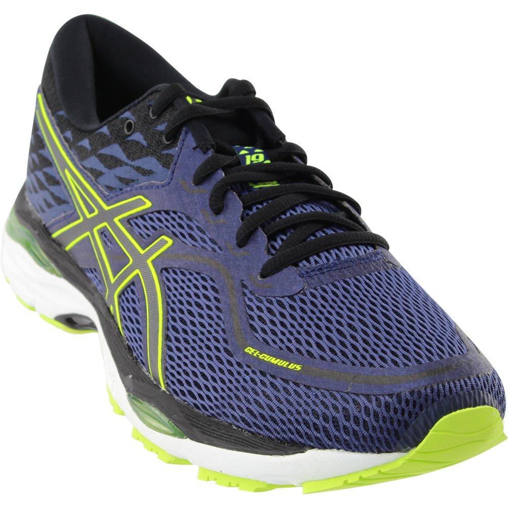 ASICS Men's Gel-Cumulus 19 Running Shoe B071F85KT2 7.5 D(M) US|Indigo Blue / Black-safety Yellow