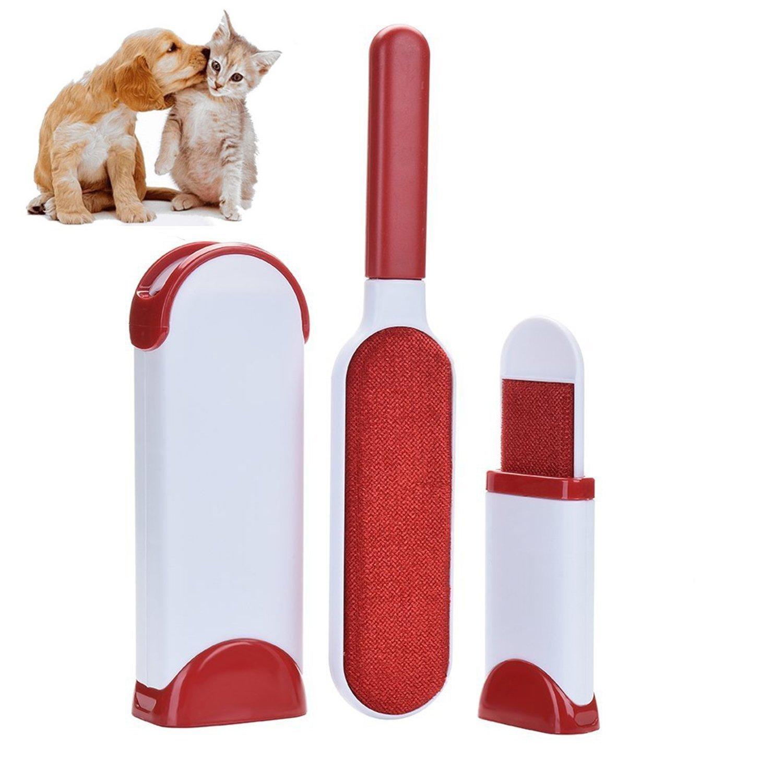 Brosse réutilisable et magique pour les animaux domestiques, brosse utilisée d'enlever automatiquement les poils et les peluches des animaux (chien,chat), des vetements, du tapis et du canapé -- un outil idéal du nettoyage dans la vie quotidienne -- Blue B