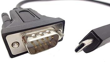 BurnTec USB to Serial Adapter Black FTDI CHIPSET RS232 BT232 WIN 10//8 7 VISTA//XP DB9 COM Retention