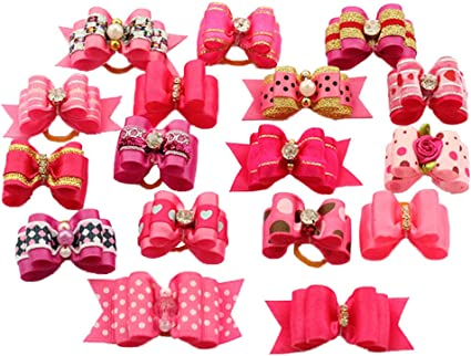 Pet Show Small Pet Dogs Cats Hair Bows With Clips Dog Hair Clips For Short Hair
