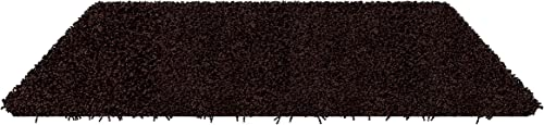 Koeckritz 2 x3 Caf Noir Shaggy Indoor Area Rug – Shaggy Carpet for Residential or Commercial use with Premium Bound Polyester Edges.