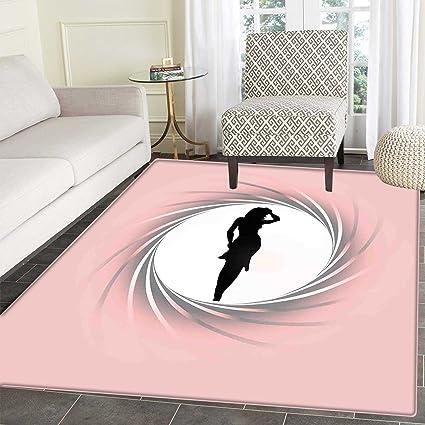 amazon com girls dining room home bedroom carpet floor mat hot ladyHot Pink And Black Area Rug #9