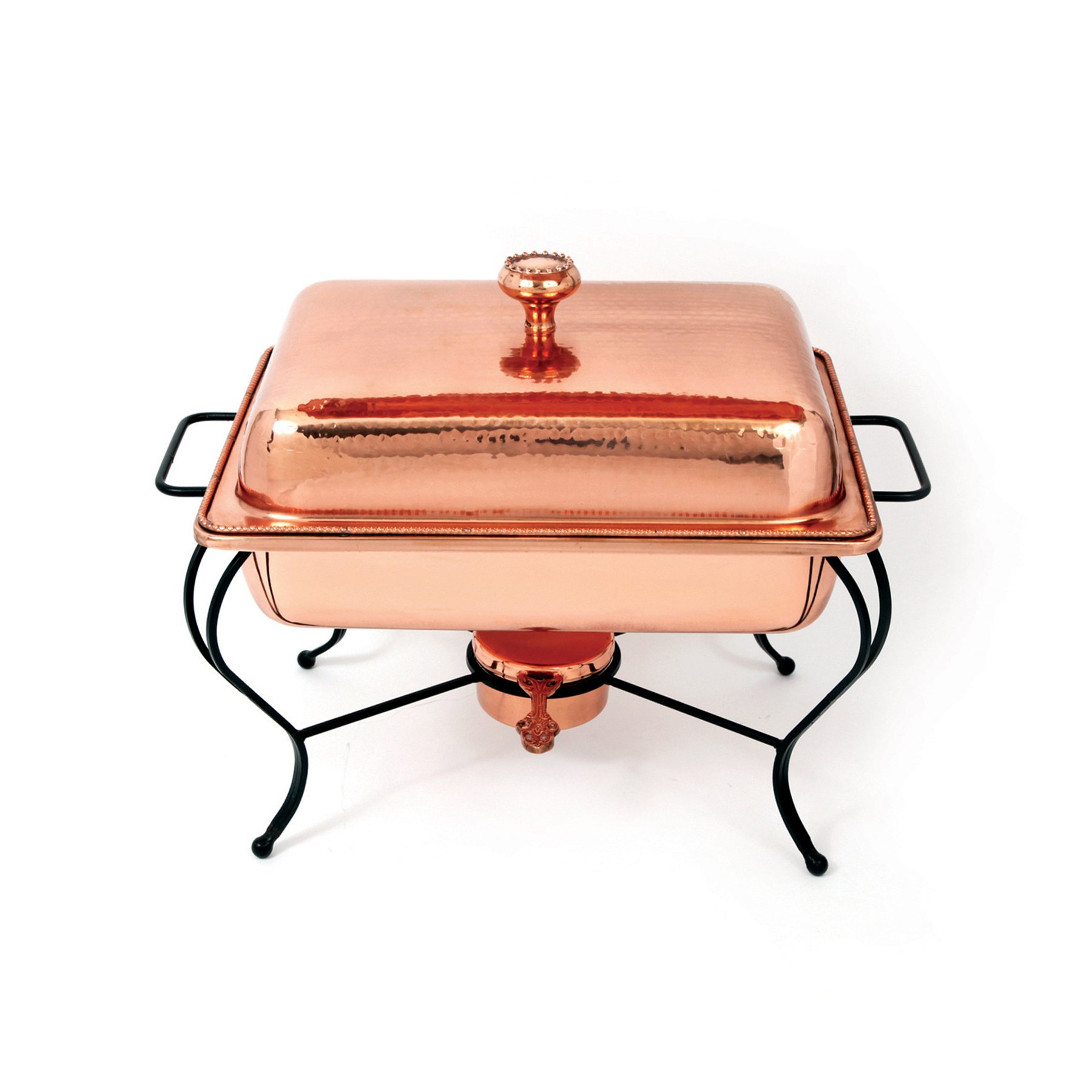Star Home 4-Quart Rectangle Copper Plated Chafing Dish