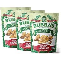 Bubba's Fine Foods Paleo Snack Mix | Hickory Smoked BBQ 4oz (Pack of 3) | Savory BBQ Banana Nut Mix