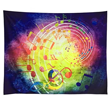 Amazon.com: Music Decor Tapestry Wall Hanging Music Note Tapestry ...