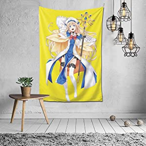 chengdouyixinhongyeshangmaoyouxiangongsi Goblin Slayer Happy Priestess 3D Printed High-Definition Custom Pattern Tapestry,House Creative Fashion Decorative Wall Hanging,Super Soft and Does Not Fade