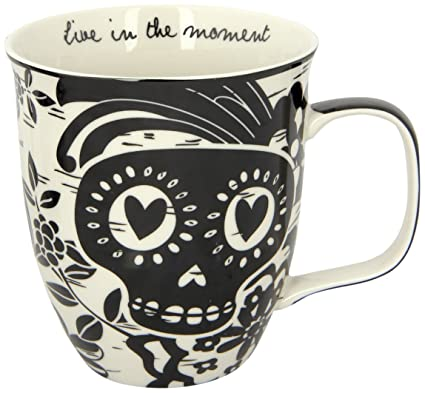 Karma Gifts Boho Black And White Mug, Sugar Skull