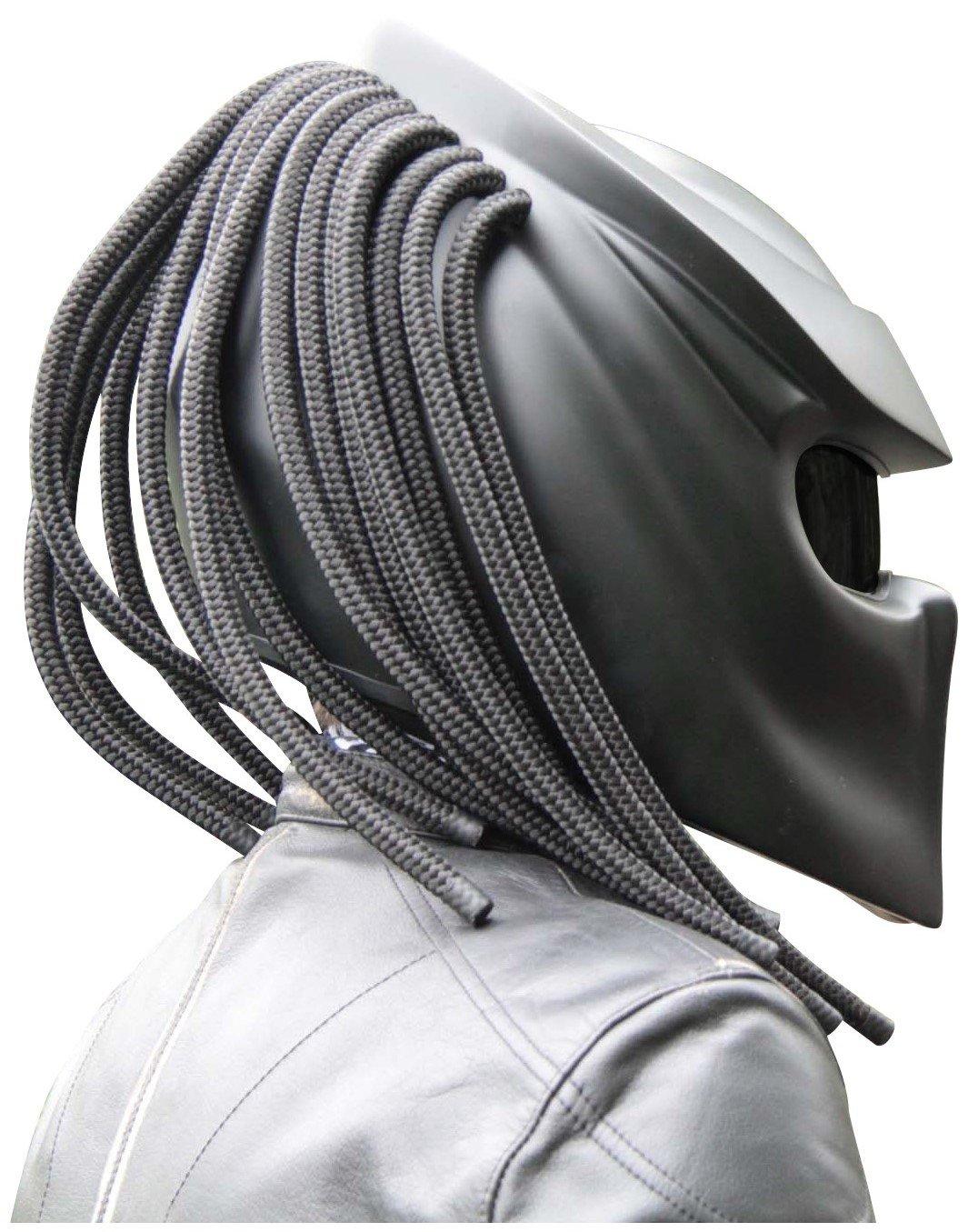 Amazon.es: Moto Casco Predator x1 Black Base Matt Made by xFF Fiber Factory Large Nero Matt