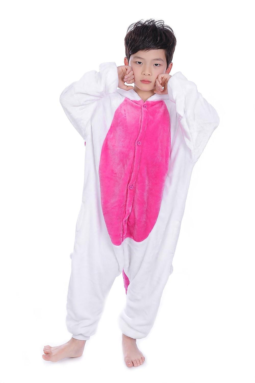 Yuson Jumpsuit Onesie Tier M/ädchen Winter Flanell Einhorn Onesie Pyjamas Erwachsene Unisex Einteiler Cartoon Tier Kost/üm Neuheit Weihnachten Cosplay Pyjamas Dinosaurier, S= 90-100 Height